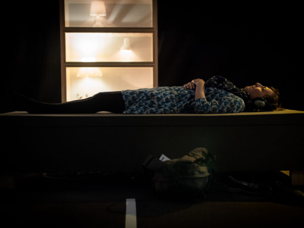 Photograph of a women lying down