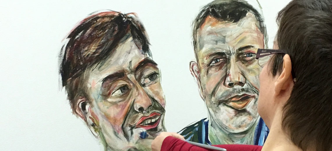 <p>Summit Portrayed live portrait event, portraying Robert Softley and Nathan Gale at Project Ability, Glasgow</p>