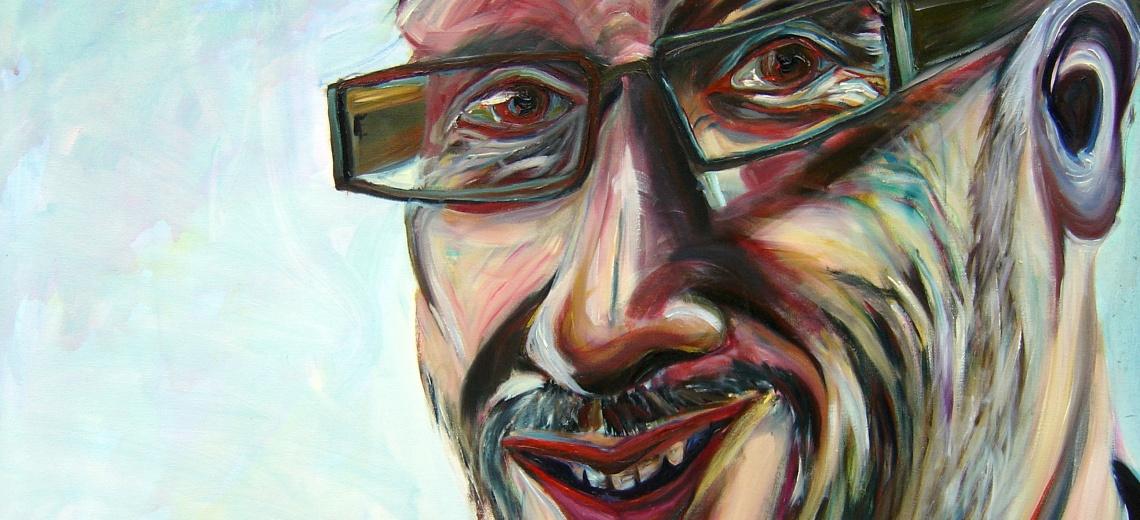 Portrait painting of Tony Heaton