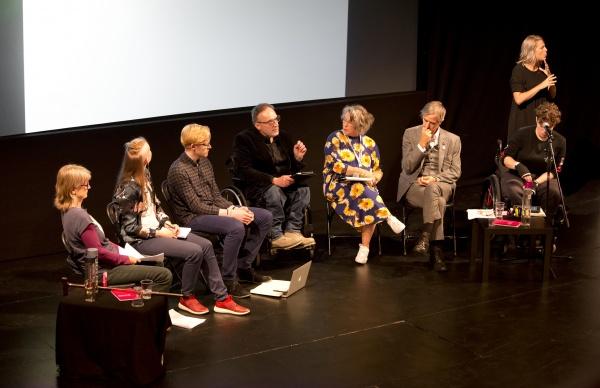 A panel debate at Unlimited symposium