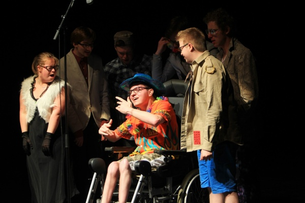 Group of disabled performers
