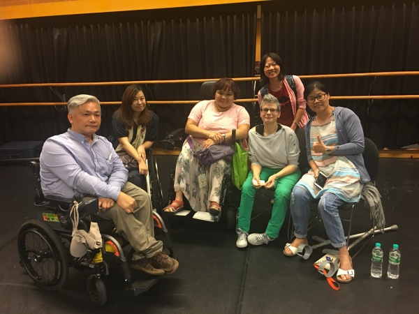 Claire Cunningham with Taiwanese disabled artists