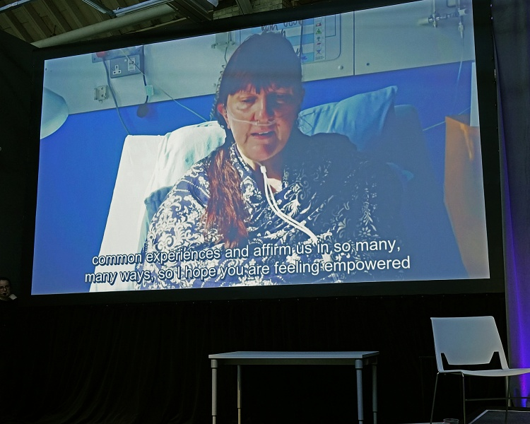 Ruth Gould appearing via video-link
