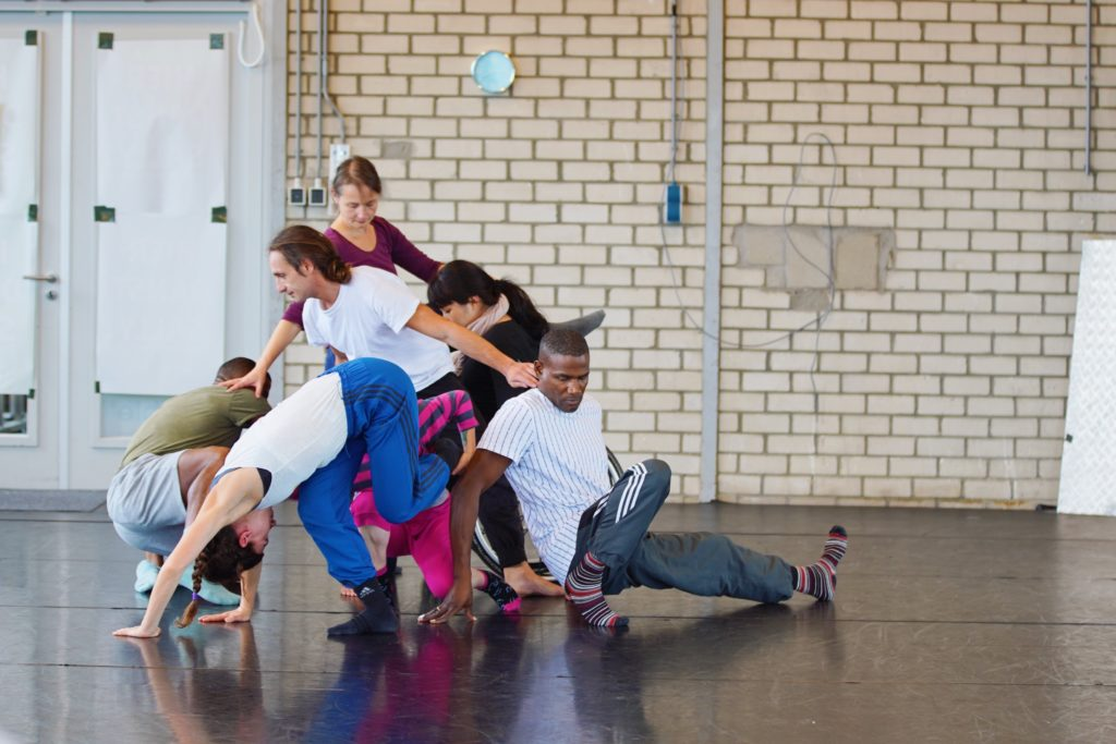 An international mix of dancers create a complex group structure in the studio