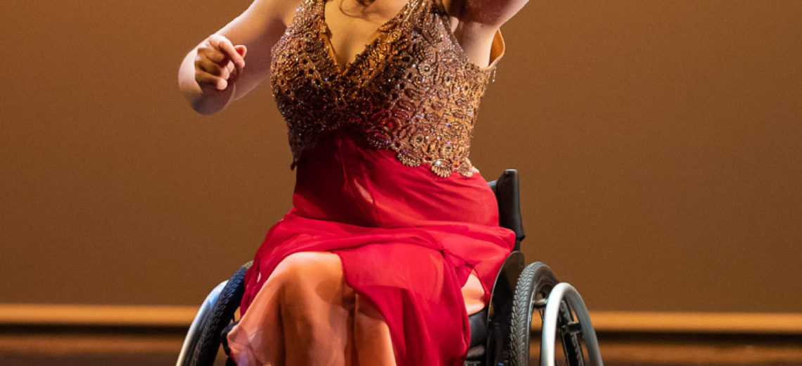 Film poster with image of female wheelchair dancer