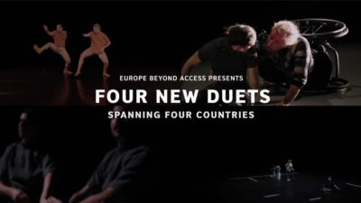 Composite image of four dance duets with text reading 'four new duets'